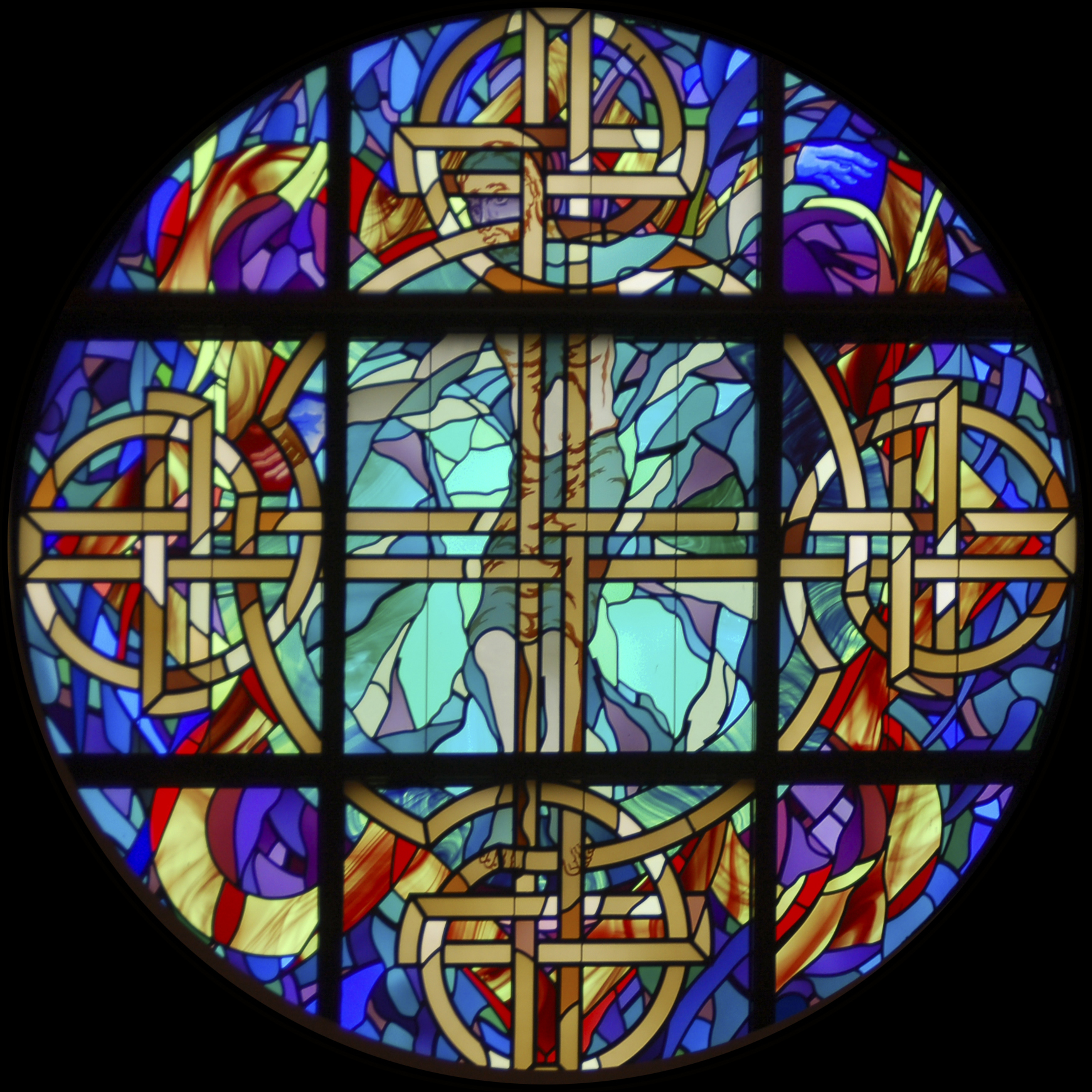 Stained Glass Windows : St columb s stained glass rose window featured andrew